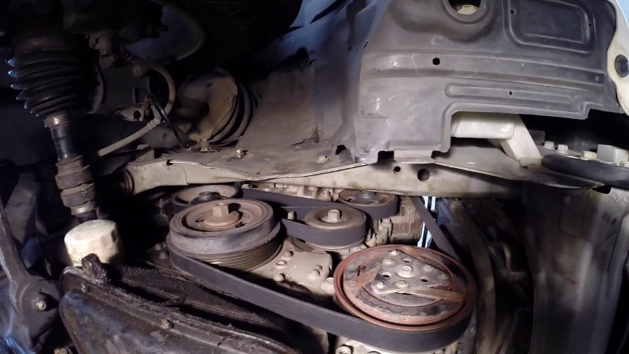 Nissan Xtrail Drive belt replacment  YouTube