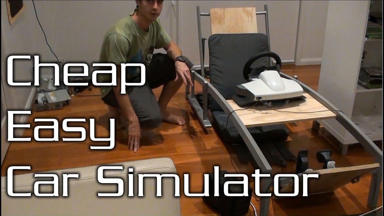 How to Make a Cheap Car Simulator Frame! - YouTube