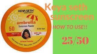 Keya seth Sunscreen powder  #howtousewithromiya