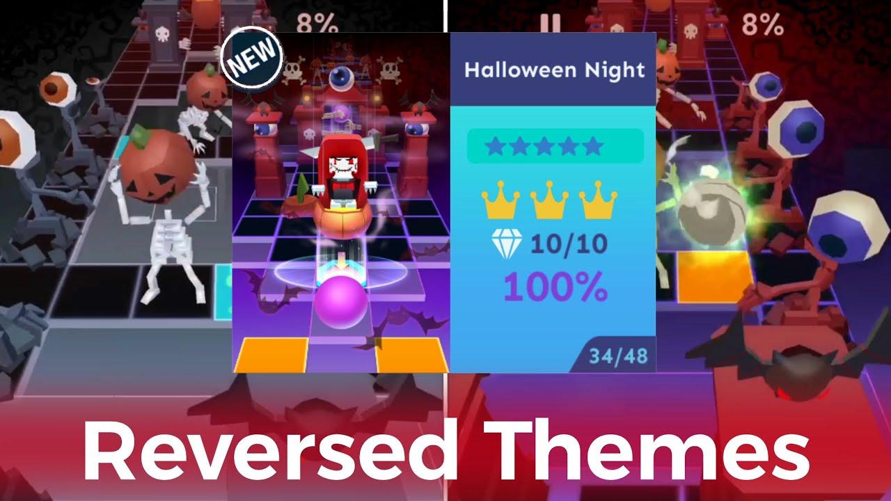 Rolling Sky Halloween Night.Rolling Sky Halloween Night Reversed Themes
