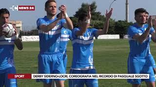 Derby Siderno-Locri, coreografia nel ricordo di Pasquale Sgotto
