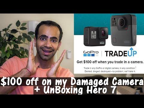 Using GoPro Tradeup Program to get $100 off + Unboxing Hero 7 Black