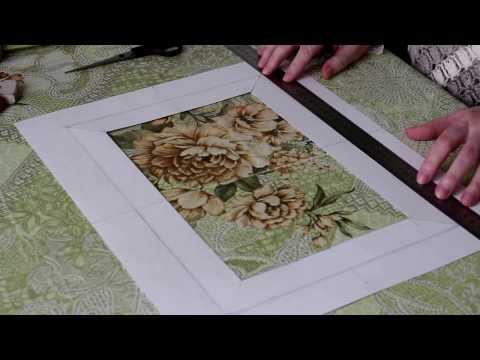 Сделать паспарту своими руками для рисунка. Видео с субтитрами.