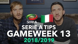 Serie A Tips - Gameweek 13 - 2018/2019