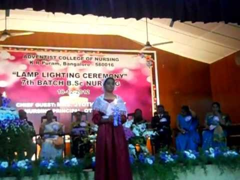 Adventist College Of Nursing Lamp Lightning Ceremony