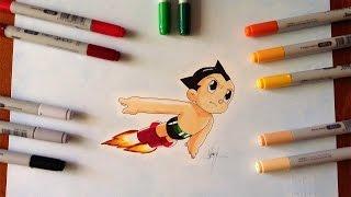 Disegno - Drawing Tetsuwan Atom Astro Boy