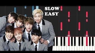 Bts Love Yourself Tear 'Singularity' (SLOW EASY PIANO TUTORIAL)