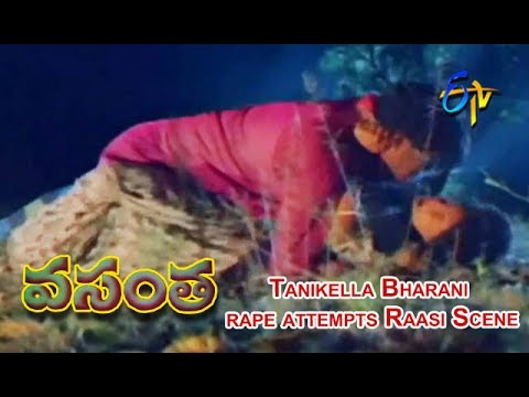 Tanikella Bharani rape attempts Raasi Scene | Vasantha Telugu Movie | Raasi | Pruthvi | ETV Cinema thumbnail