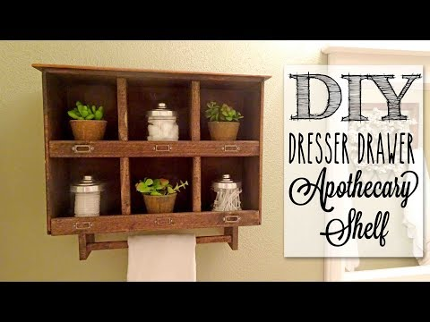 DIY Apothecary Cabinet | Reclaimed Old Dresser Drawer