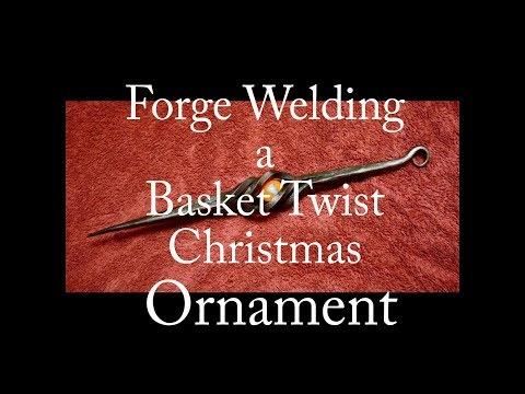 Forge Welding a Basket Twist Christmas Ornament