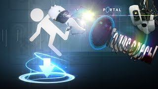 УРОК ФИЗИКИ С ГЛАДОС! ИЗУЧАЕМ КИНЕТИЧЕСКУЮ ЭНЕРГИЮ! Portal, игра о порталах.