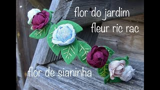 Gigolé com Flores de sianinha e feltro Passo a Passo