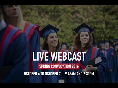Simon Fraser University Fall Convocation 2016 - Live Webcast