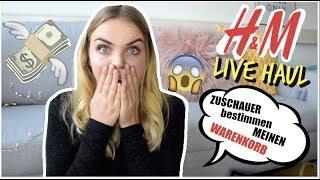 H&M LIVE HAUL | IHR BESTIMMT MEINEN WARENKORB 😱💰
