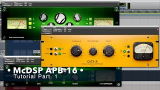 McDSP APB-16 Tutorial Part.1 / Plug-in & Hardware Tutorial #104