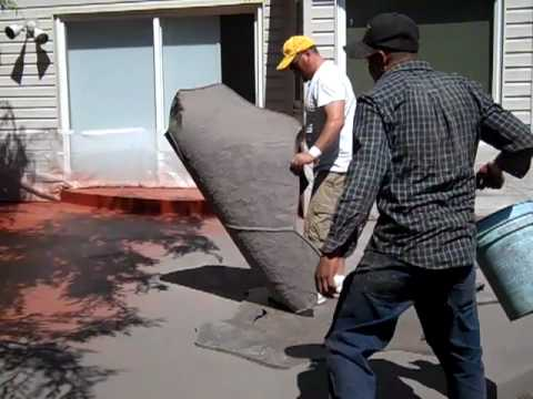 Superbe Pour, Color, Finish And Stamped Concrete Patio   YouTube