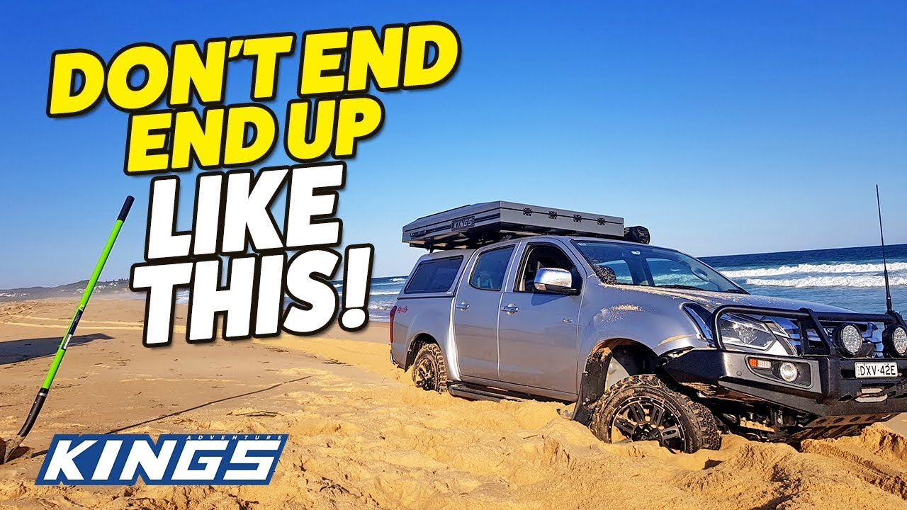 4Wd Supacentre Jump Starter beach 4wding secrets revealed! how to avoid getting bogged on the sand!