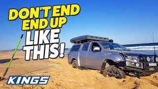 Beach 4WDing Secrets REVEALED! How to avoid getting bogged on the sand!