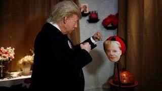 Trump Live Figure Thumps Merkel At Berlins Madame Tussauds