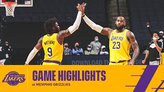 HIGHLIGHTS   Los Angeles Lakers At Memphis Grizzlies