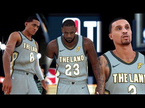NBA 2k18 - New Look Cavaliers vs Boston Celtics | Cavs trade Half the Roster! (4k 60fps)