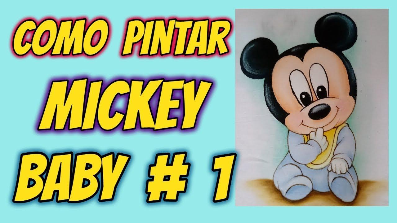 Como Pintar Mickey Baby 1 Aula Iniciantes Desenhos