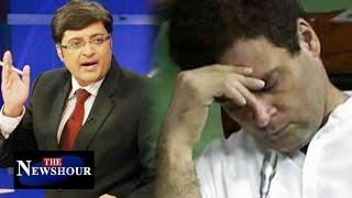 Rahul Gandhi SLEEPING in Parliament: The Newshour Debate (20th July 2016)