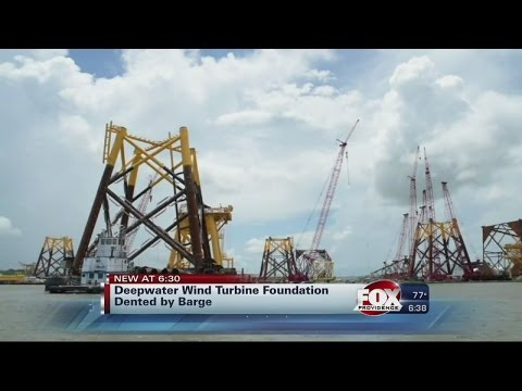 Deep Water Wind Barge Accident Dents Wind Farm Foundation Off Rhode Island