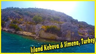 Kekova 2018. Best of Island Kekova, Turkey Tourism. Travel to Turkey 2018. Island Simena, Turkey