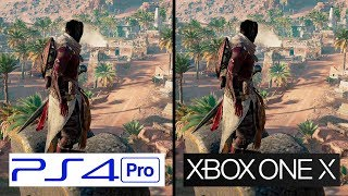 Assasins Creed Origins | PS4 Pro VS Xbox One X | 4K Graphics Comparison | Comparativa