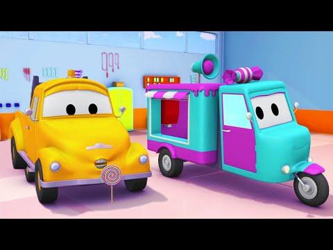 Tom och godisbilen Carrie - Bärgningsbilen Tom i Bilköping 🚗 Tecknade serier för barn