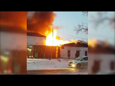 23 12 2019 Пожар в посёлке Горнореченский в Кавалеровском районе Приморского края