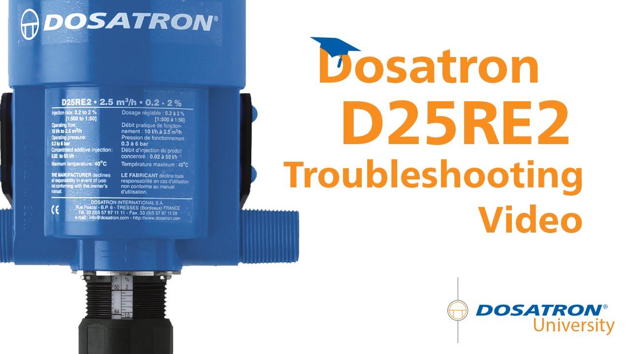 Dosatron D25re2 Troubleshooting Video