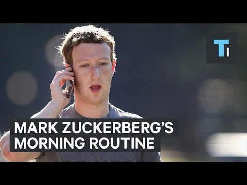 Mark Zuckerberg morning routine