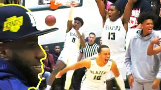 BRONNY JAMES BIG DUNK + ZAIRE WADE IS BACK! LEBRON WATCHES! SIERRA CANYON V RIBET ACADEMY HIGHLIGHTS