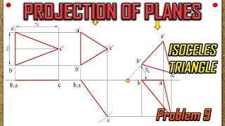 PROJECTION OF PLANES_Recreated_Lecture 9 - Isoceles Triangle that looks as Equilateral Triangle