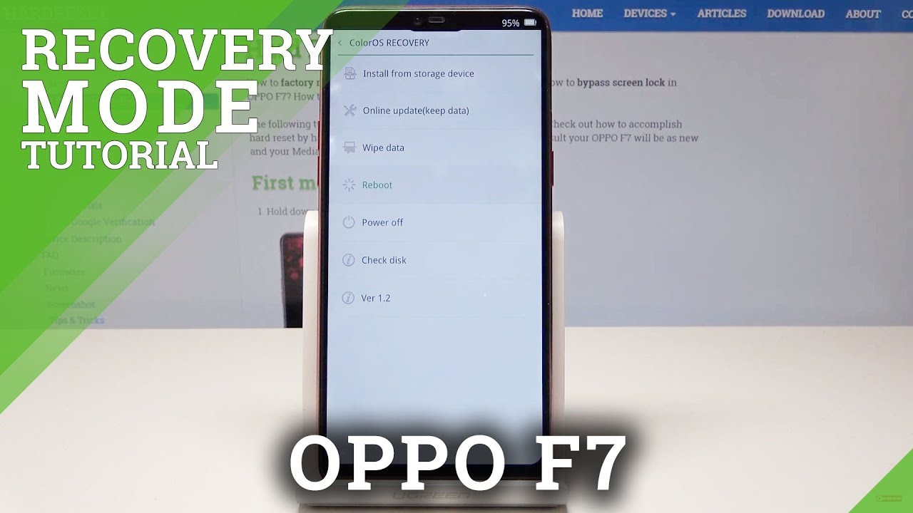 Recovery Mode OPPO F7 - HardReset info