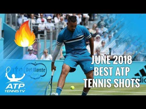 Top 20 Best ATP Tennis Shots from June 2018 🔥