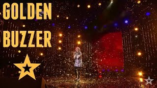 GOLDEN BUZZER - 12 Year Old Girl Shocked The Audience