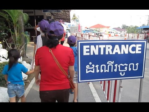 Cambodia travel to Koh Kong and cross Cambodia Thai border to Thai market