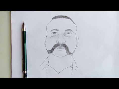 ||How To Draw||step By Step||commander Abhinandan (no Shading)||by Sketch Guru||