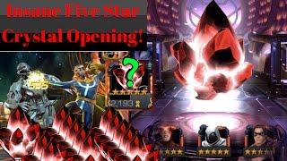 Insane Five Star Crystal Opening! THIS WAS AMAZING!!! Marvel: Contest of Champions.