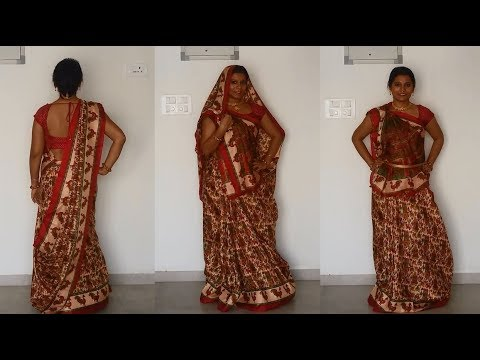 North Indian Saree draping tutorial