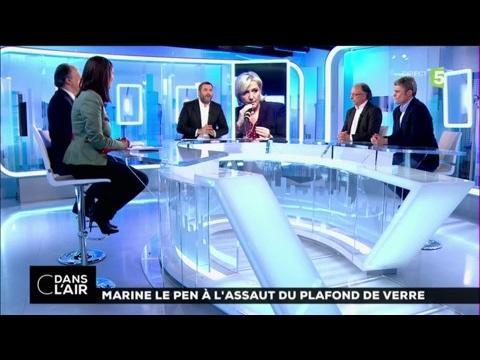 Marine Le  Pen à l'assaut du plafond de verre #cdanslair 31-03-2017