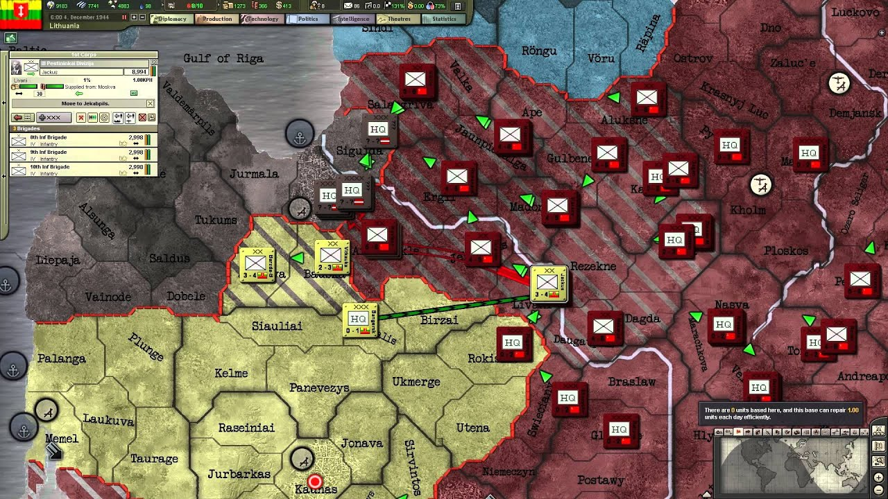 Hearts Of Iron Iii Ftm Taking Part As Lithuania 4x