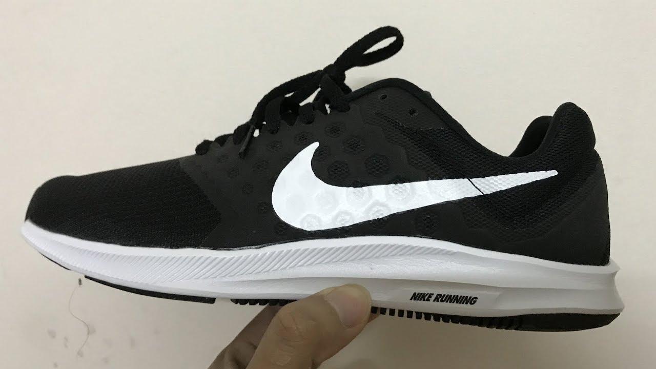 45897c387fc2 Mở Hộp Giày Nike Downshifter 7 852459-002  Đi Êm