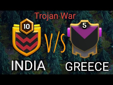 Live Trojan War | INDIA v/s GREECE | CLASH OF CLANS