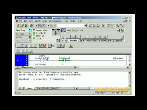 Rslogix 5000 Editing Ladder Logic with Online