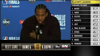 Kawhi Leonard Press Conference | NBA Finals Game 4