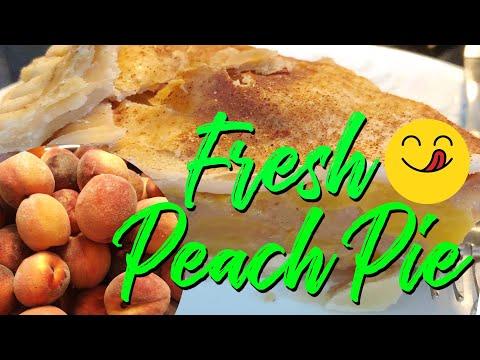 Easy Peach Pie Recipe   Basic Peach Pie